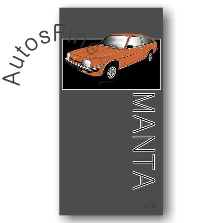 Opel Manta B - Kunstdruck No. 164named