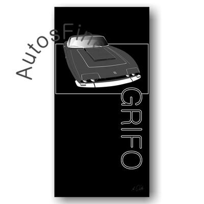 Iso Grifo - HD Aluminiumbild No. 14named sw