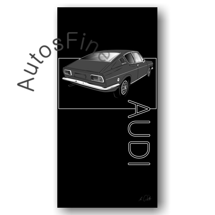 Audi 100 Coupé S  - HD Aluminiumbild No. 147named