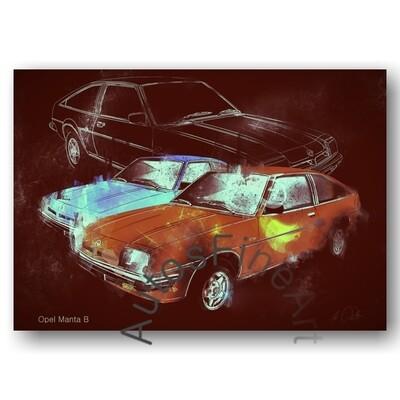 Opel Manta B - HD Aluminiumbild No. 164street