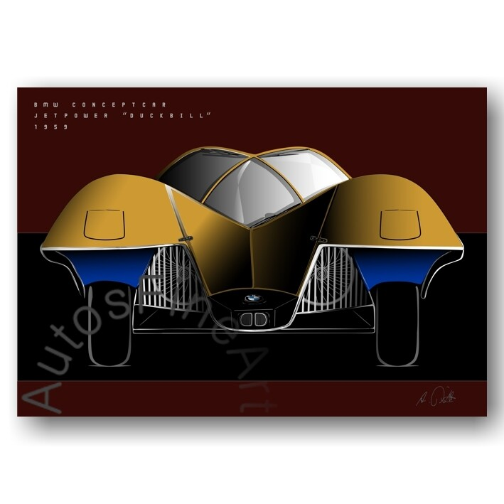 BMW Conceptcar Jet Power DUCKBILL - Poster No. 165special