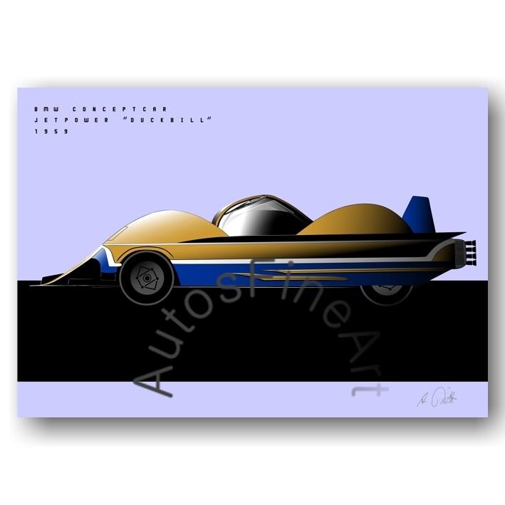 BMW Conceptcar Jet Power DUCKBILL - Poster No. 166special