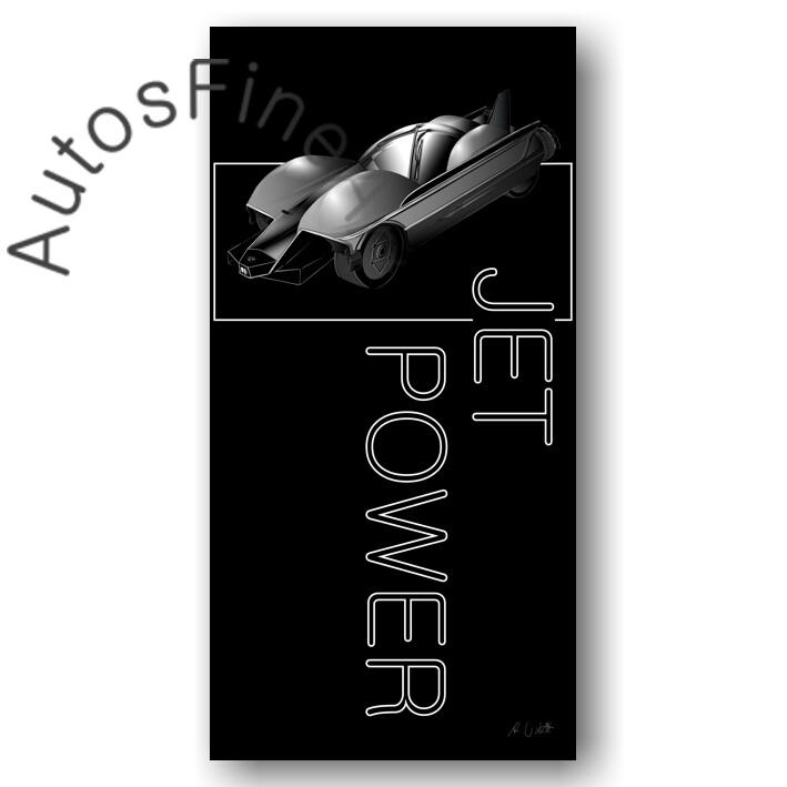 BMW Conceptcar Jet Power DUCKBILL  - HD Aluminiumbild No. 167named