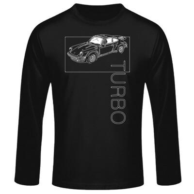 Porsche 911 Turbo Männer Langarmshirt - No. 145sketch