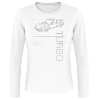 Porsche 911 Turbo Frauen Langarmshirt - No. 145sketch