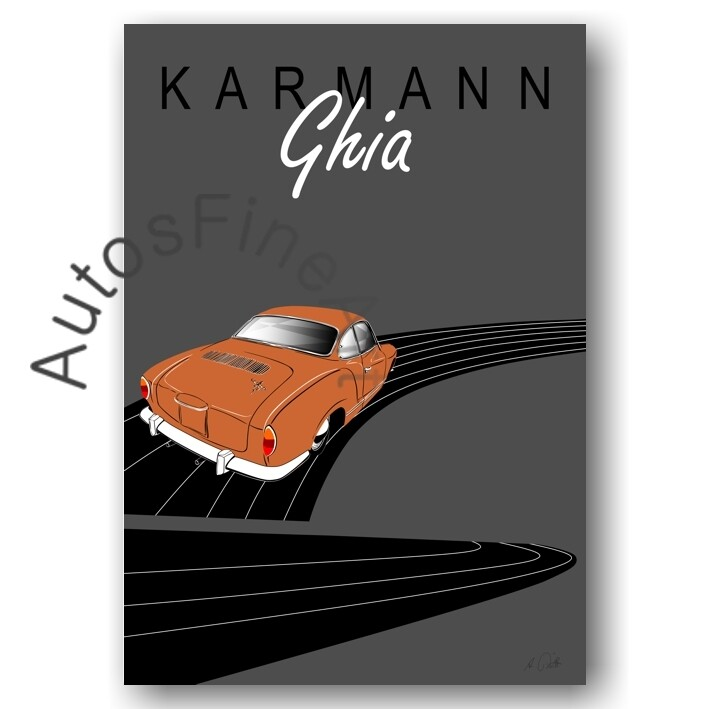 VW Karmann Ghia - HD Aluminiumbild No. 145placard