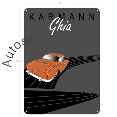 VW Karmann Ghia - Blechbild No. 145placard