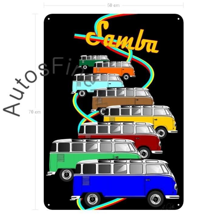 VW Bus T1 Samba - Blechbild No. 124placard