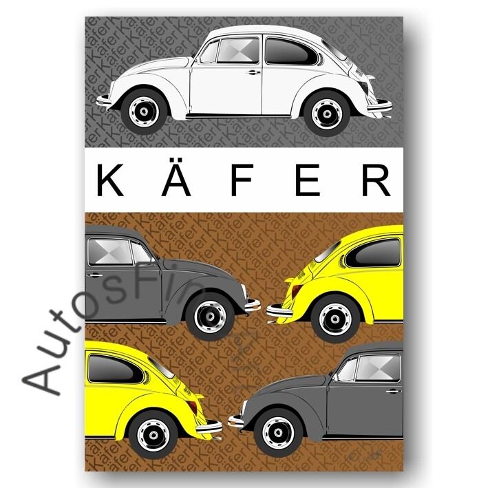 VW Käfer - HD Aluminiumbild No. 123placard
