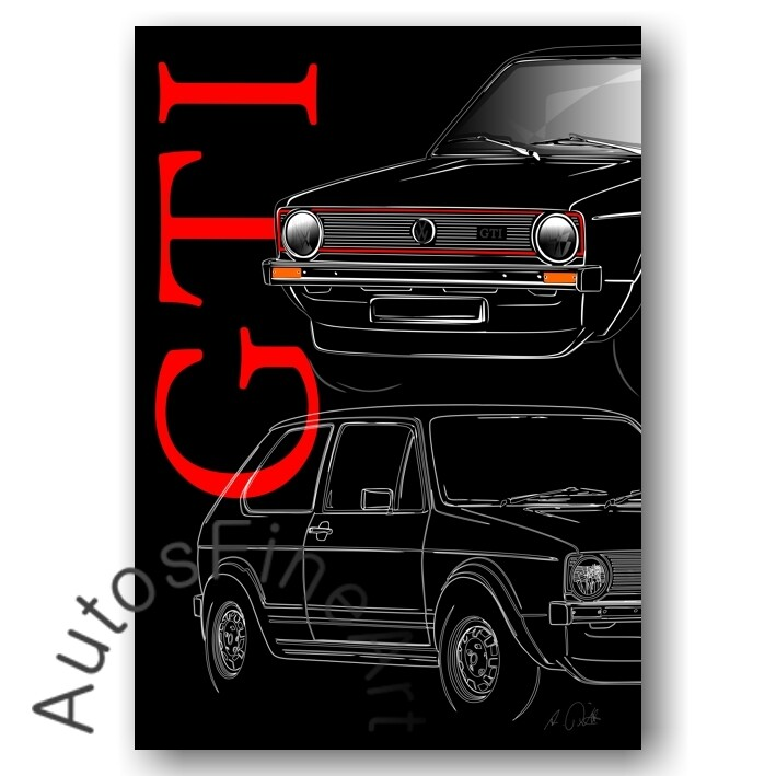 VW Golf GTI - Poster No. 136placard