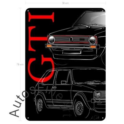 Golf GTI - Blechbild No. 136placard
