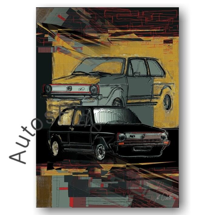 VW Golf GTI - HD Aluminiumbild No. 136urban