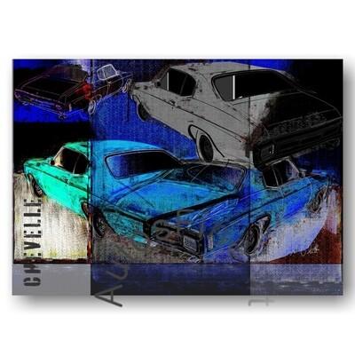 Chevrolet Chevelle - HD Aluminiumbild No. 161urban