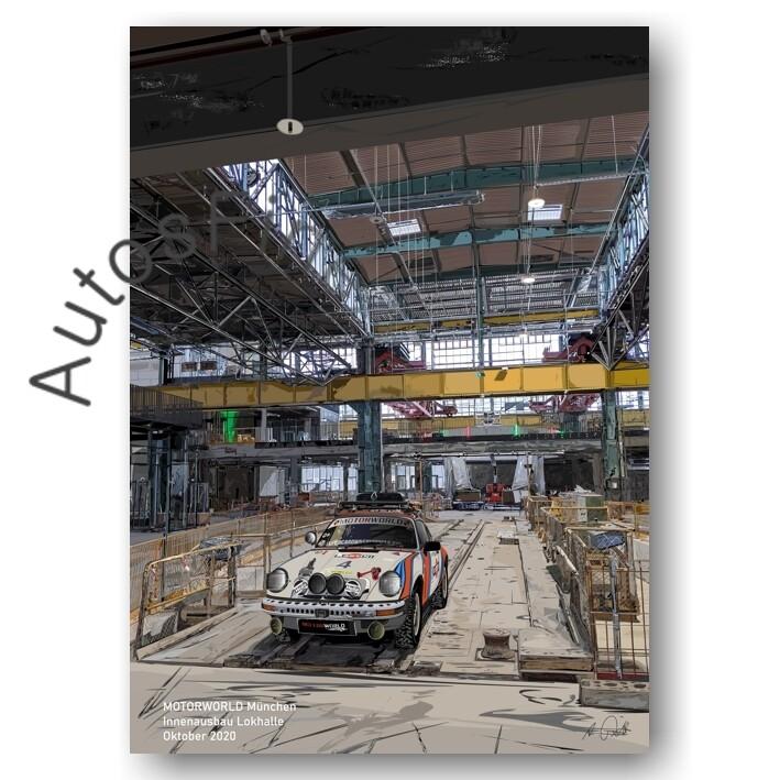 MOTORWORLD München Innenausbau Lokhalle - HD Aluminiumbild No. 168special