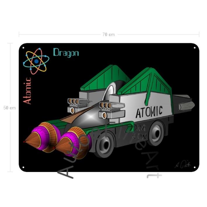 Atomic Dragon - Blechbild No. 173special