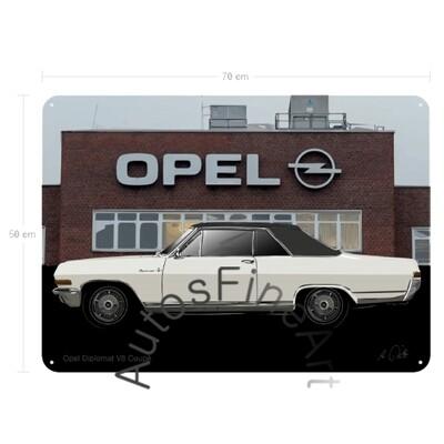 Opel Diplomat V8 - Blechbild No. 166sketch
