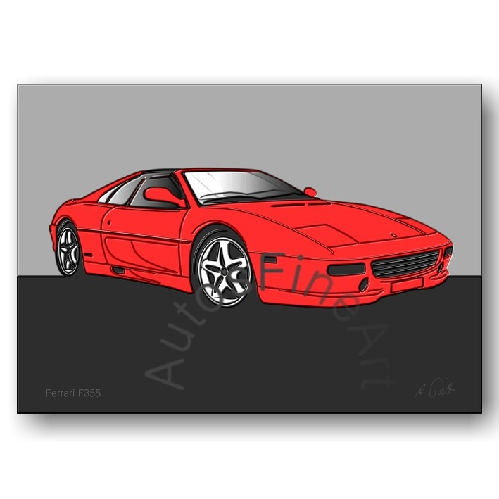 Ferrari F355 - HD Aluminiumbild No. 1up