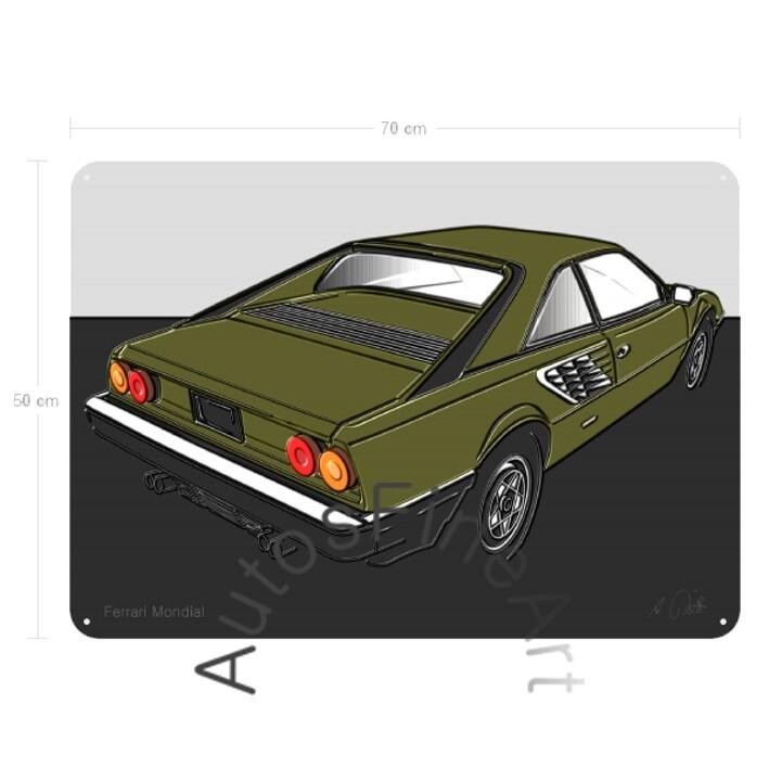 Ferrari Mondial - Blechbild No. 3up
