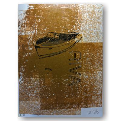 Riva Boot - Handgefertigter Spezialdruck No. SHIPspecial2
