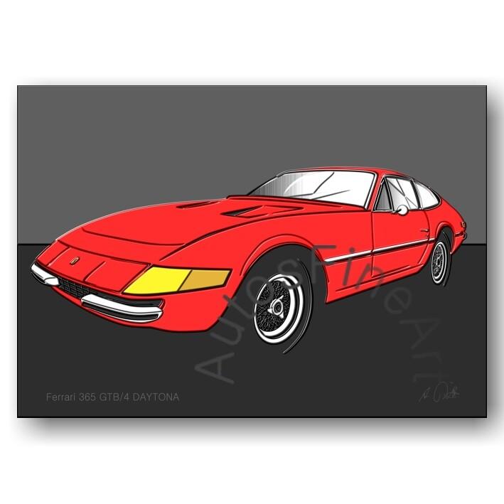 Ferrari 365 GTB/4 DAYTONA - HD Aluminiumbild No. 6up