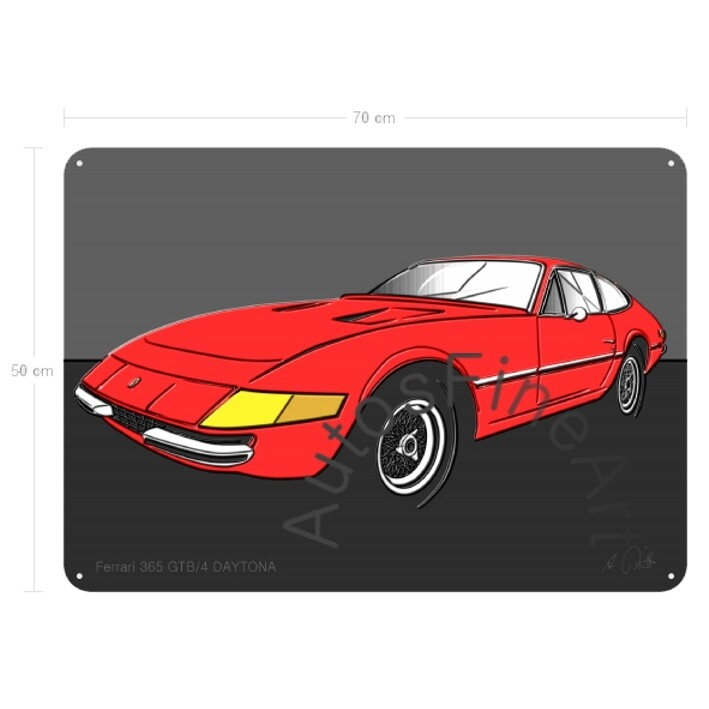 Ferrari 365 GTB/4 DAYTONA - Blechbild No. 6up