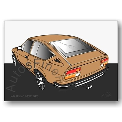 Alfa Romeo Alfetta GTV - Poster No. 7up