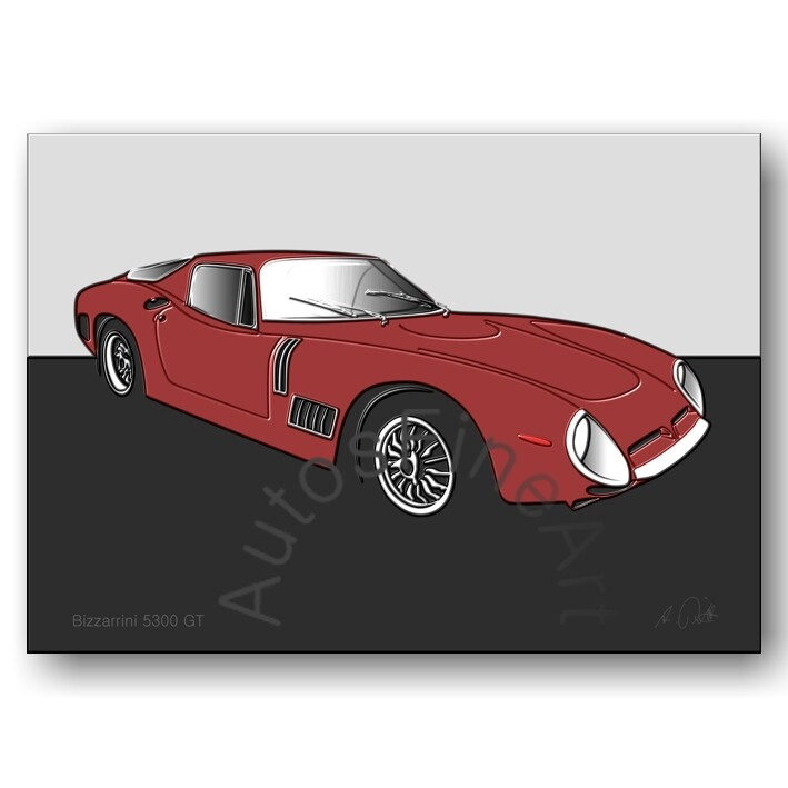 Bizzarrini GT 5300 - Poster No. 10up
