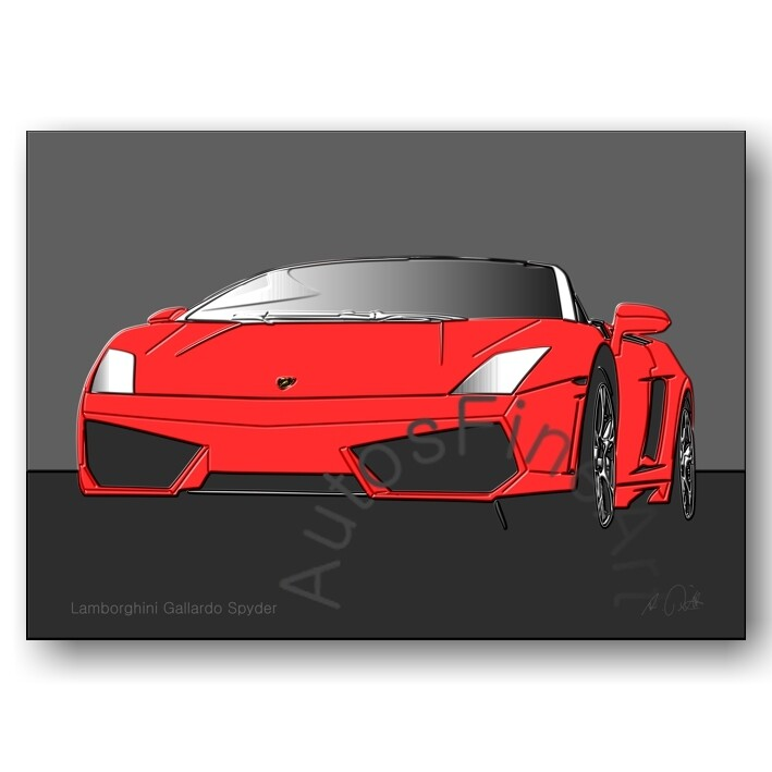 Lamborghini Gallardo Spyder - HD Aluminiumbild No. 12up