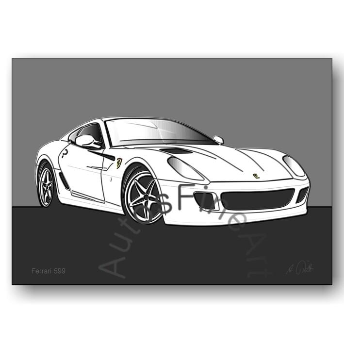 Ferrari 599 - Poster No. 13up
