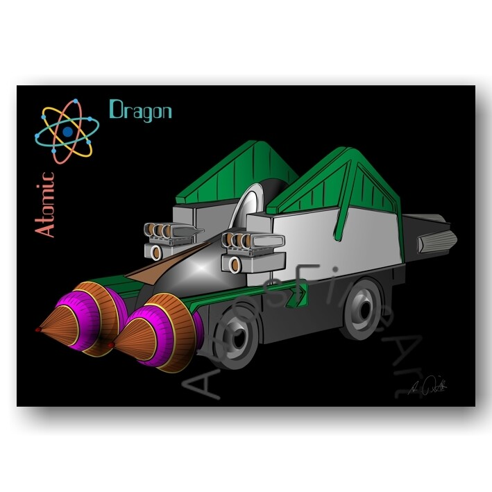 Atomic Dragon - HD Aluminiumbild No. 173special
