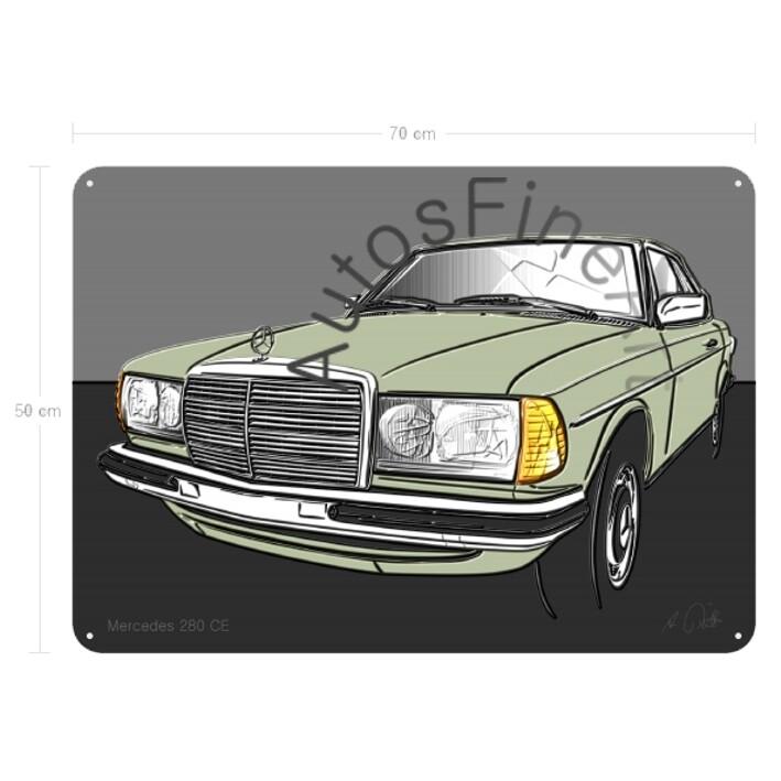 Mercedes 280 CE (W123) - Blechbild No. 122up