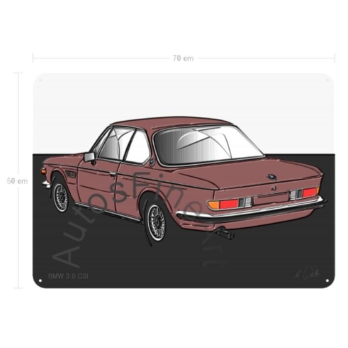BMW 3.0 CSI - Blechbild No. 125up