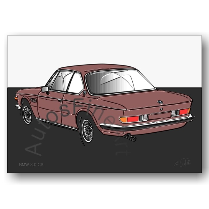 BMW 3.0 CSI - HD Aluminiumbild No. 125up