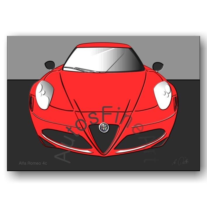 Alfa Romeo 4c - HD Aluminiumbild No. 90up