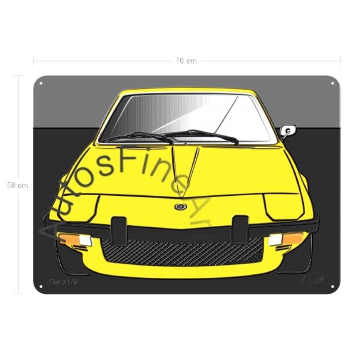 Fiat X1/9 - Blechbild No. 94up