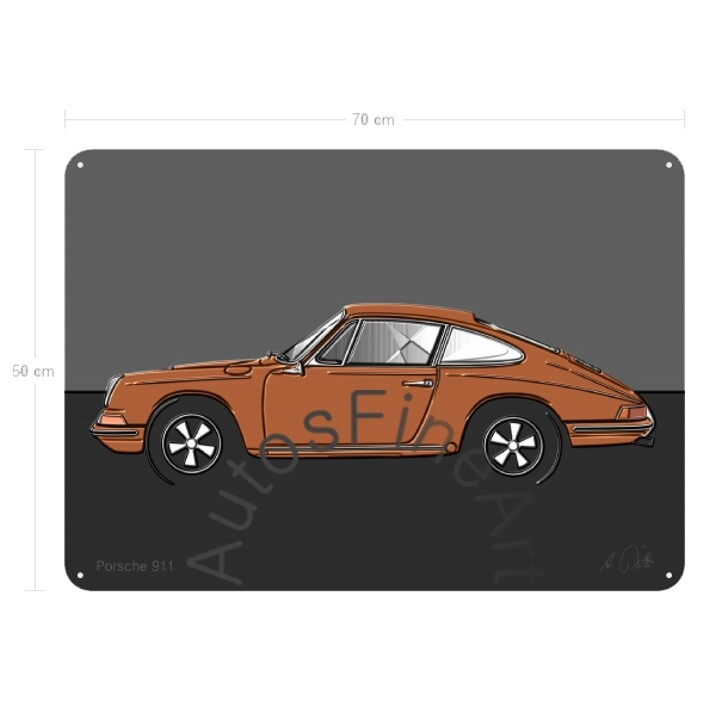 Porsche 911 - Blechbild No. 111up