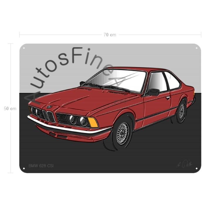 BMW 628 CSI - Blechbild No. 112up