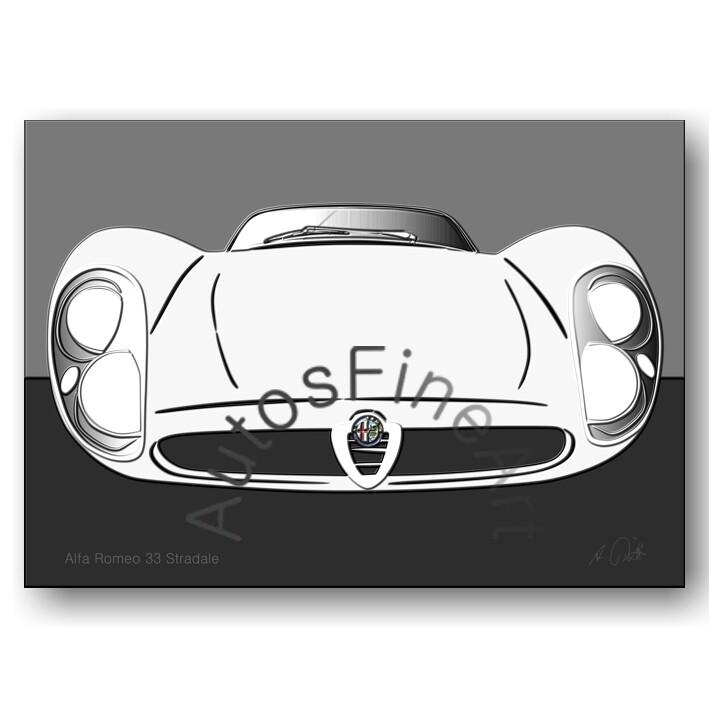Alfa Romeo 33 Stradale - Poster No. 83up