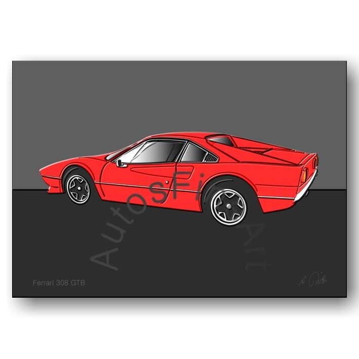 Ferrari 308 GTB - Poster No. 18up