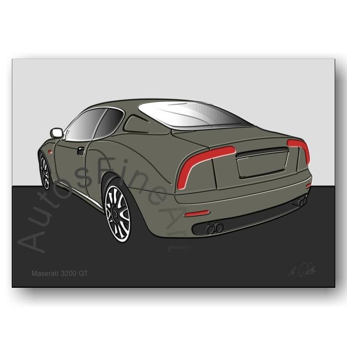 Maserati 3200 GT - HD Aluminiumbild No. 20up