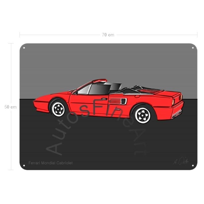 Ferrari Mondial Cabriolet - Blechbild No. 26up