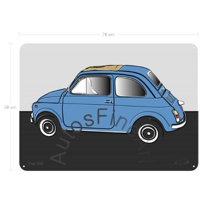 Fiat 500 - Blechbild No. 27up