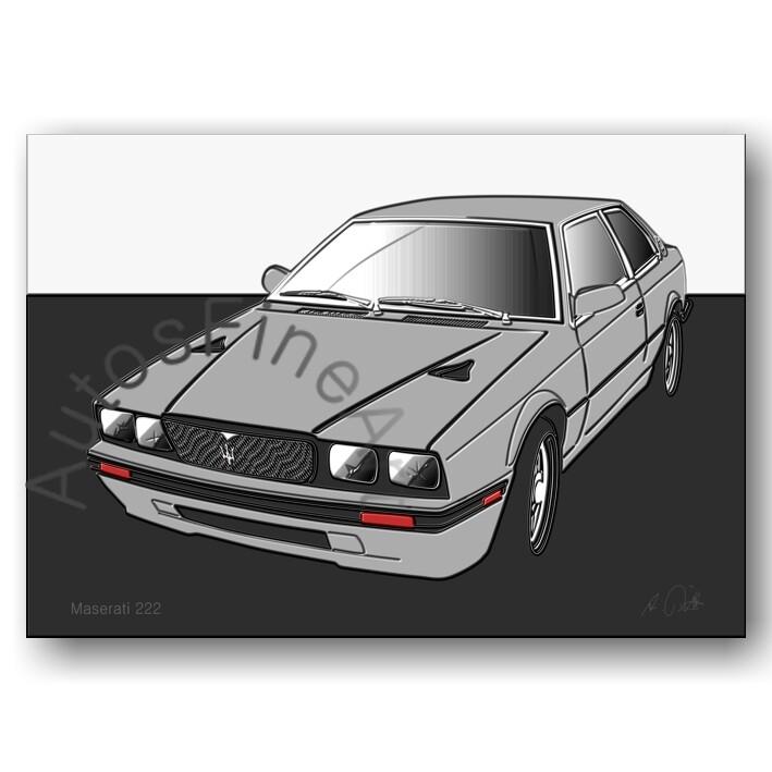 Maserati 222 - HD Aluminiumbild No. 29up