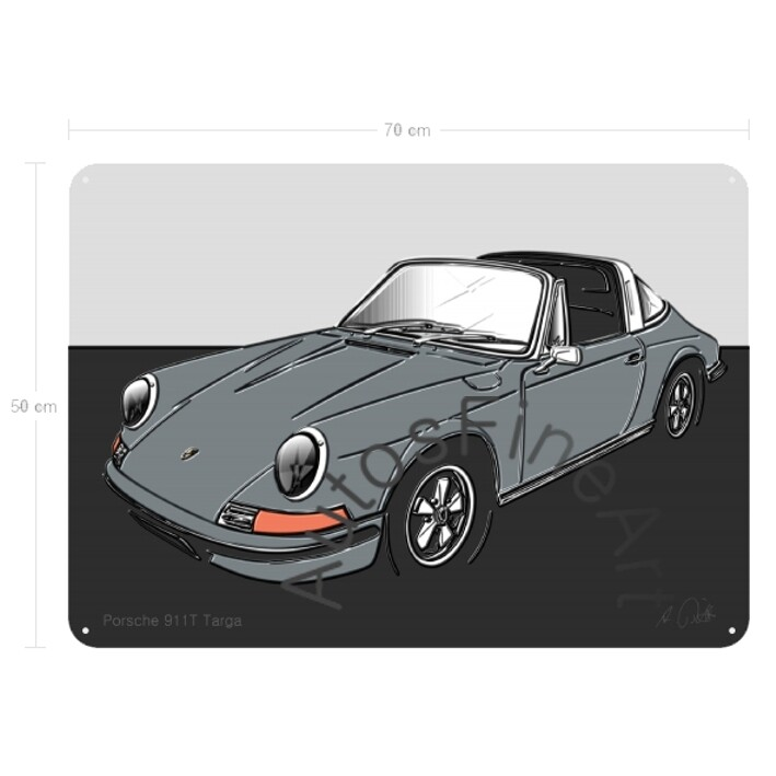 Porsche 911T Targa - Blechbild No. 116up