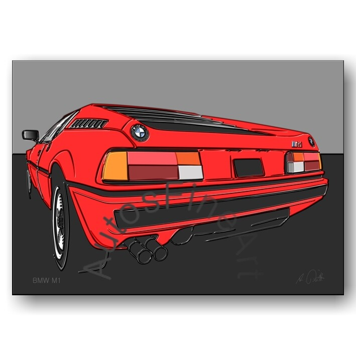 BMW M1 - Poster No. 127up