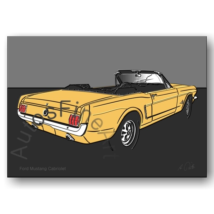 Ford Mustang Cabriolet - Poster No. 119up