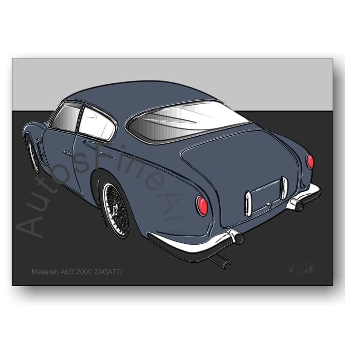 Maserati A6G/54 2000 ZAGATO - Poster No. 129up