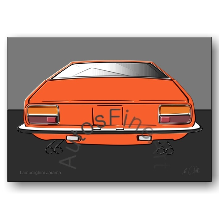 Lamborghini Jarama - HD Aluminiumbild No. 80up