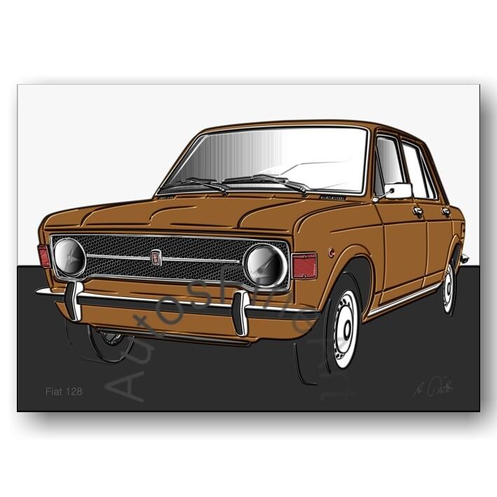 Fiat 128 - HD Aluminiumbild No. 100up