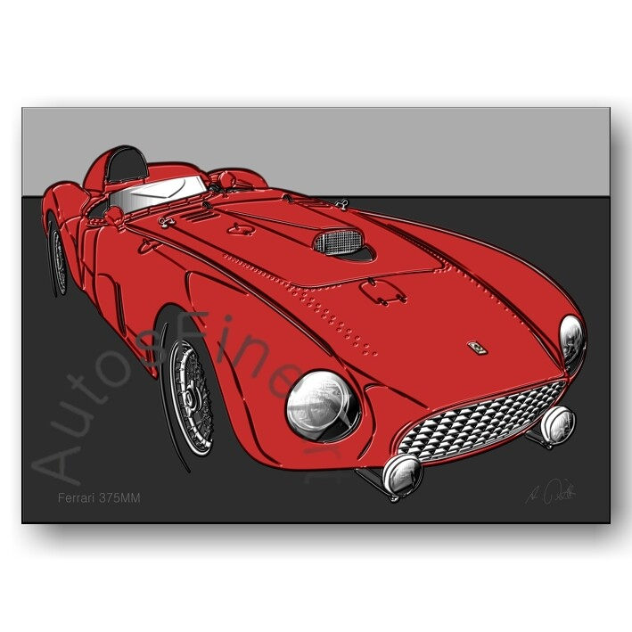 Ferrari 375MM - HD Aluminiumbild No. 158up